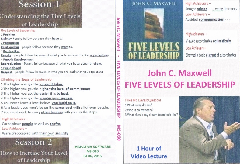 Video – 5 Level of Leadership                   # 027